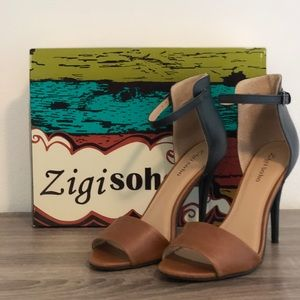 Ziti Soho two toned leather heels
